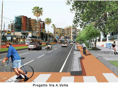 Pista ciclabile Via Marina: work in progress